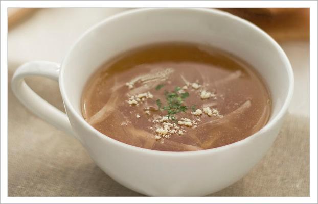 にんにく入りオニオンスープ